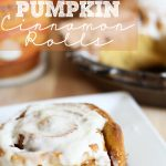 Pumpkin Cinnamon Rolls with Cream Cheese Frosting! These are ooey-gooey DELICIOUS! #pumpkin #recipe #dessert