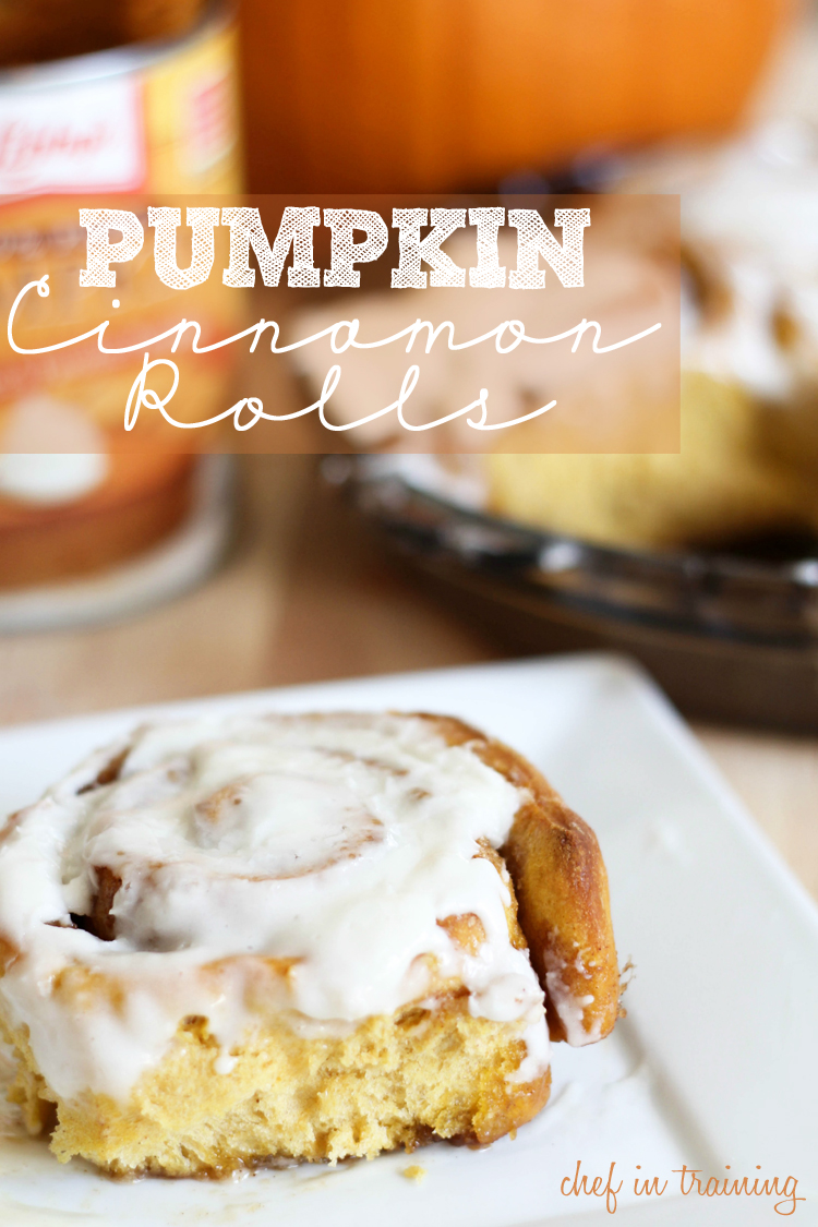 Pumpkin Cinnamon Rolls with Cream Cheese Frosting - Chef ...