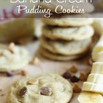 Peanut Butter and Chocolate Chip Banana Cream Pudding Cookies at chef-in-training.com #cookie #recipe