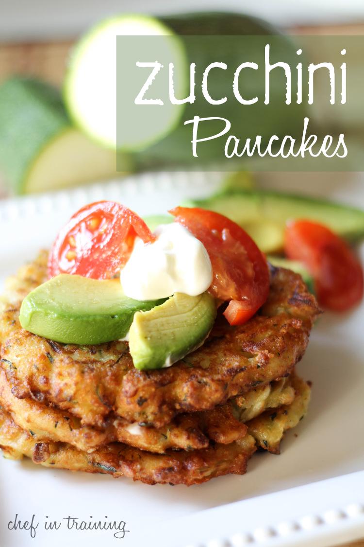 Zucchini Pancakes! A fun new way to use up all that zucchini! # ...