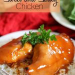 Slow Cooker Sweet and Saucy Chicken! A super easy meal that tastes amazing! #slowcooker #chicken