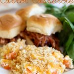 Creamy Cheesy Carrot Casserole!  A family favorite recipe! These are the perfect side dish! #casserole #recipe
