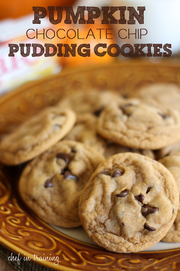 Pumpkin Chocolate Chip Pudding Cookies - Chef in Training