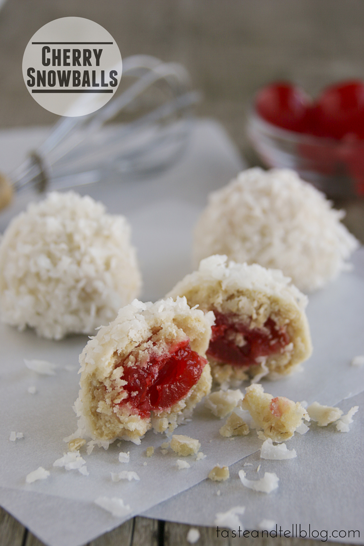 Cherry Snowball Cookies Chef In Training