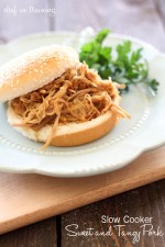 Slow Cooker Sweet and Tangy Pulled Pork