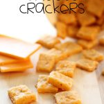 Homemade Cheese Crackers! So simple to make! These are perfect for kid's lunches, after-school-snacks, or when you get that salty craving! We LOVE this recipe! #cheese #snack #recipe