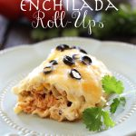 Enchilada Roll-Ups at chef-in-training.com ... These are so good! A great Mexican/Italian spin that my whole family LOVES! #Mexican #dinner #recipe