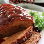 Slow Cooker BBQ Ranch Meatloaf... this recipe is so easy and could be THE BEST meatloaf I have ever eaten! #recipe #dinner #slowcooker