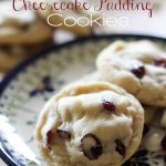 White Chocolate Craisin Cheesecake Pudding Cookies... These are the perfect treat for the holidays! #cookie #recipe