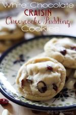White Chocolate Craisin Cheesecake Pudding Cookies