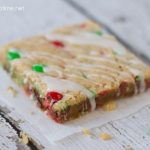 M & M Cookie Bars from I Heart Nap Time at www.chef-in-training.com ... These make the perfect treat for any holiday party and also make great neighbor gifts! #cookie #recipe