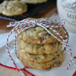 Pistachio Pudding Cookies from Shugary Sweets on chef-in-training.com - with Craisins, White Chocolate and Pistachios! #JELL-O #cookie #bloggercookieexchange