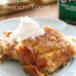 Overnight Egg Nog French Toast... this is the perfect holiday breakfast! Super easy and absolutely delicious! #breakfast #recipe #eggnog