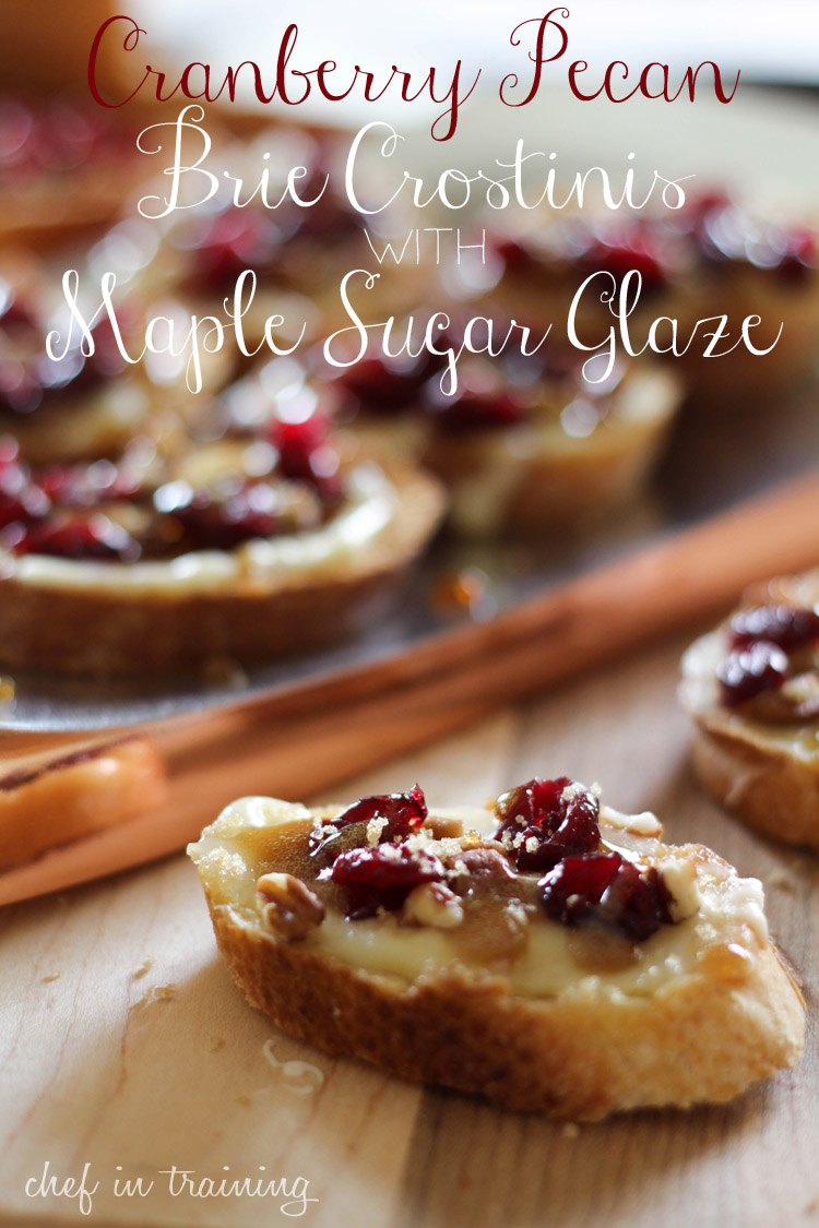 Cranberry Pecan Brie Crostinis with Maple Sugar Glaze and NAMBE