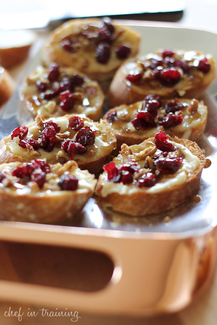 Cranberry Pecan Brie Crostinis With Maple Sugar Glaze And Nambe Giveaway Chef In Training