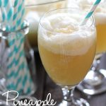 Pineapple Punch!.. Only 4 ingredients that combine to make a fruity, creamy and refreshing beverage. A definite crowd pleaser at parties! #drink #beverage #recipe