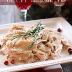 Slow Cooker Turkey and Gravy on chef-in-training.com ...So easy and delicious! #dinner #recipe #turkey