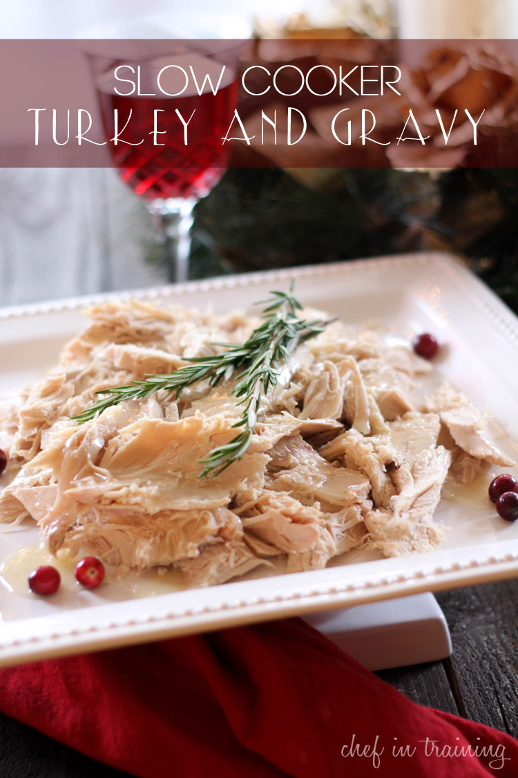 Slow Cooker Turkey and Gravy | Easy Slow Cooker Recipes For Thanksgiving | slow cooker recipes for thanksgiving | slow cooker recipes