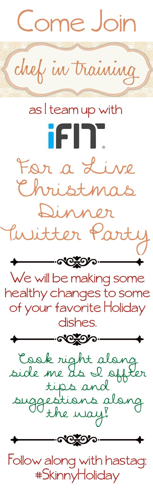 Christmas Dinner Party with Chef in Training and iFit