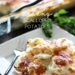 Creamy Scalloped Potatoes... These potatoes on chef-in-training.com outshine any other potatoes I have ever made. The flavor is so unique and completely delicious!  #potato #sidedish #recipe