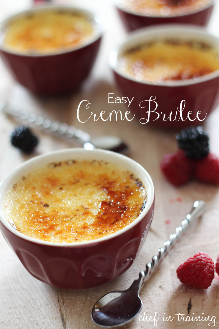 EASY Creme Brûlée.... this recipe is seriously SO simple and is THE BEST Creme Brûlée I have had! This is a MUST MAKE recipe!