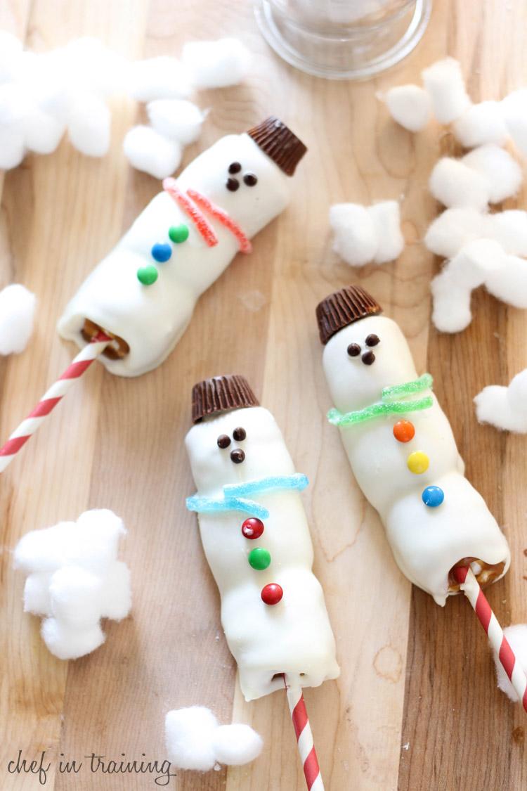 Disneyland Inspired White Chocolate Caramel Marshmallow Snowmen | Chef ...