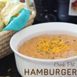 Crock Pot Hamburger Dip... This dip is so easy to make and is a definite crowd pleaser! #appetizer #recipe #crockpotchic