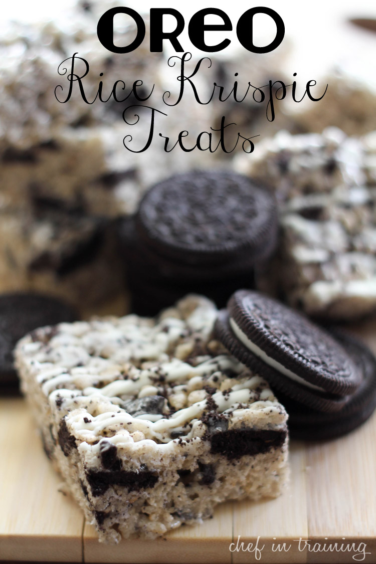 Oreo Rice Krispie Treats - Chef in Training