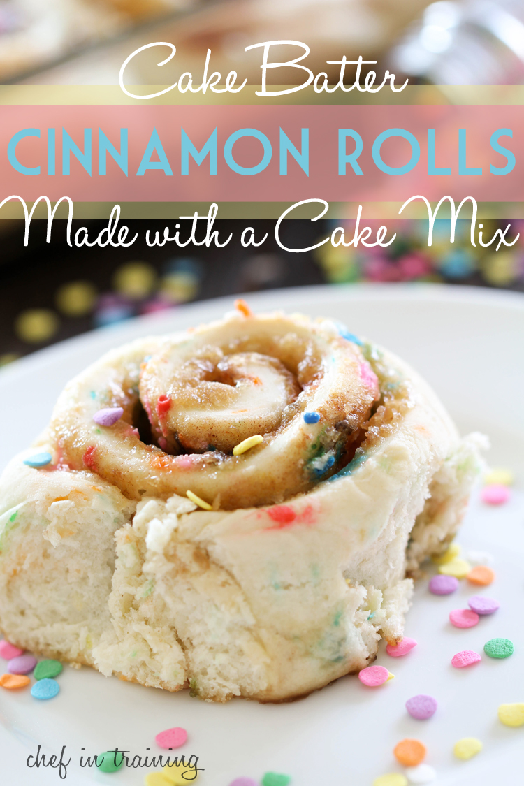 Cinnamon Roll Recipe Made With Yellow Cake Mix