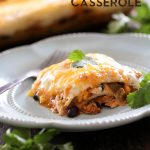 Chicken Enchilada Casserole on chef-in-training.com  ...The great flavor of chicken enchiladas, with only a fraction of the work! #dinner #recipe
