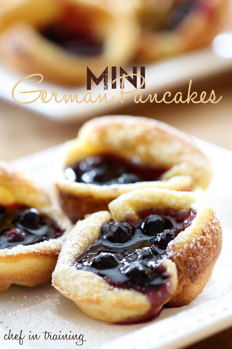 Mini German Pancakes! You will be blown away by how easy and delicious these are! The perfect personal sized breakfast! #breakfast #recipe