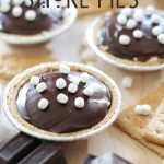Miniature S'more Pies!... So simple to make and require no baking at all! They are absolutely delicious! #smore #dessert #recipe