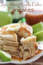 Sparkling Apple Cider Pancakes with Sparkling Apple Cider Syrup