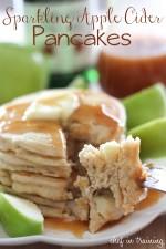 Sparkling Apple Cider Pancakes with Sparkling Apple Cider Syrup