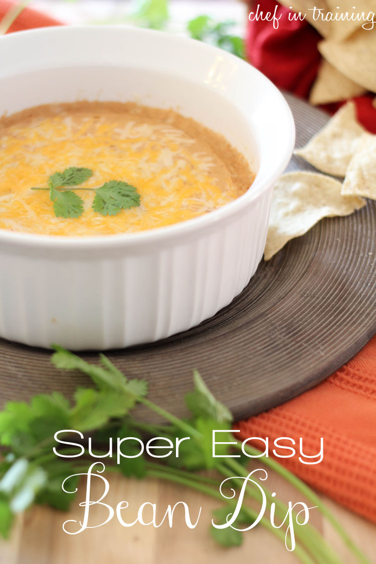 Super Easy Bean Dip!... Only 3 ingredients! This is so simple to make and is a total crowd pleaser!