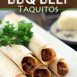Baked BBQ Beef Taquitos on chef-in-training.com ...This dinner is super easy, delicious and family-friendly! Picky Eater Approved! #recipe #dinner
