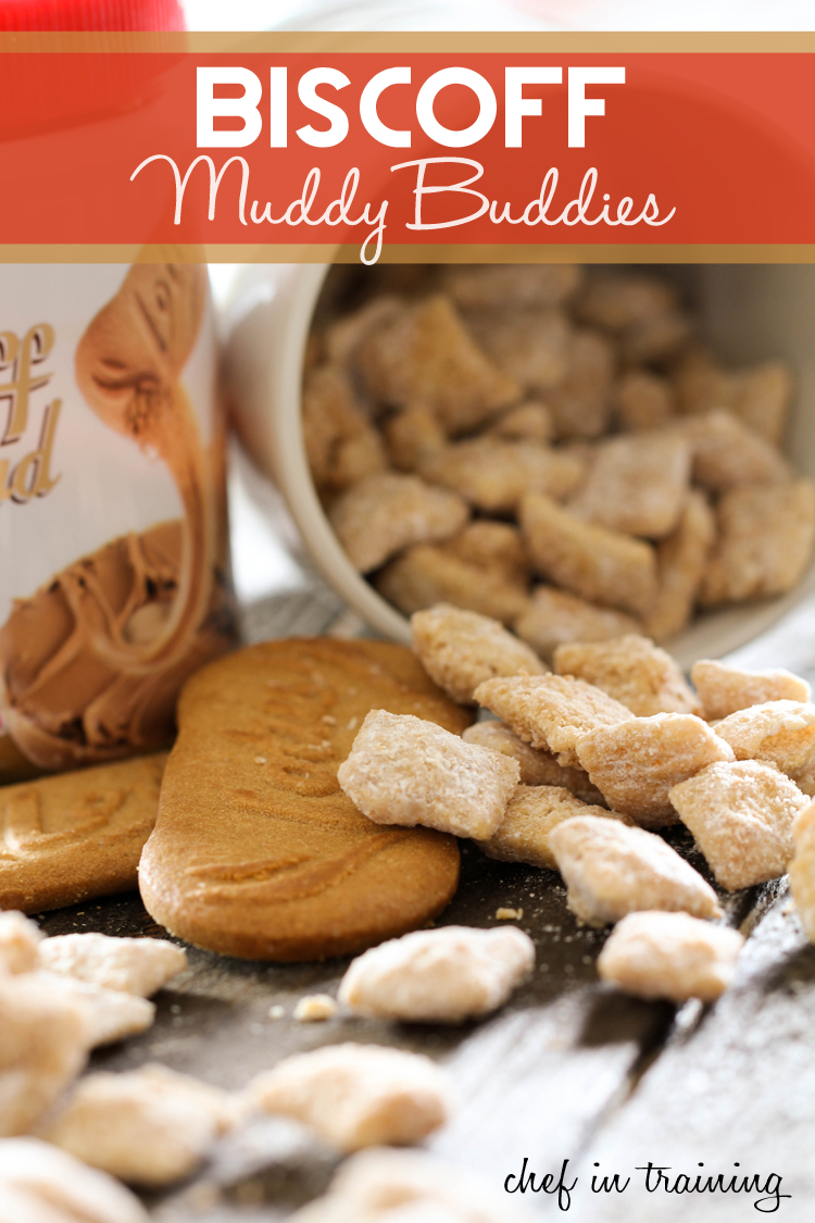 Biscoff Muddy Buddies on chef-in-training.com ...A delicious spin on a classic recipe! #recipe #dessert