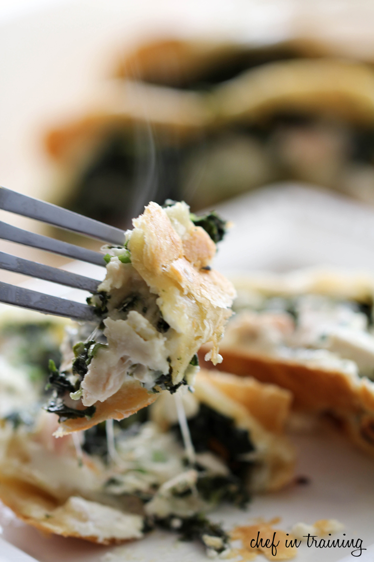 Greek Spinach Feta Chicken Pockets on chef-in-training.com ...The flavor in this dinner will completely blow your mind! It is one of the best things I have ever eaten! #dinner #recipe