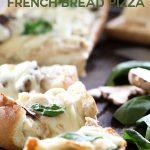 Spinach Chicken Alfredo French Bread Pizza