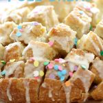 Cake Batter Pull Bread from chef-in-training.com ...This recipe is seriously SO good and extremely simple to make!