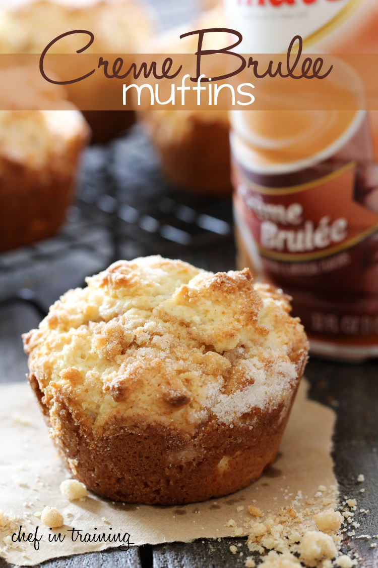 Creme Brûlée Muffins from chef-in-training.com ...The flavors of a fancy dessert in a simple, soft and delicious muffin! #breakfast #recipe #muffin