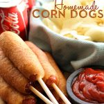 EASY Homemade Corn Dogs from chef-in-training.com ...You will be blown away by how simple and quick these whip up! They are delicious and make the perfect after-school-snack! #recipe #lunch