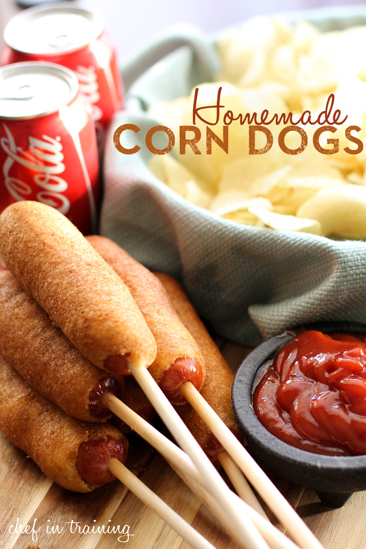 EASY Homemade Corn Dogs from chef-in-training.com ...You will be blown ...