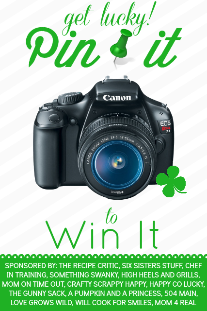 Get Lucky Pin It to Win It: Canon Rebel Giveaway! Come visit chef-in-training.com to enter for your chance to win! #giveaway