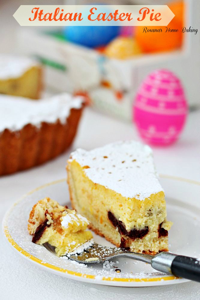 Italian Easter Pie Recipe from Roxana's Home Baking on chef-in-training.com ...This looks and sounds SO good! #recipe #dessert