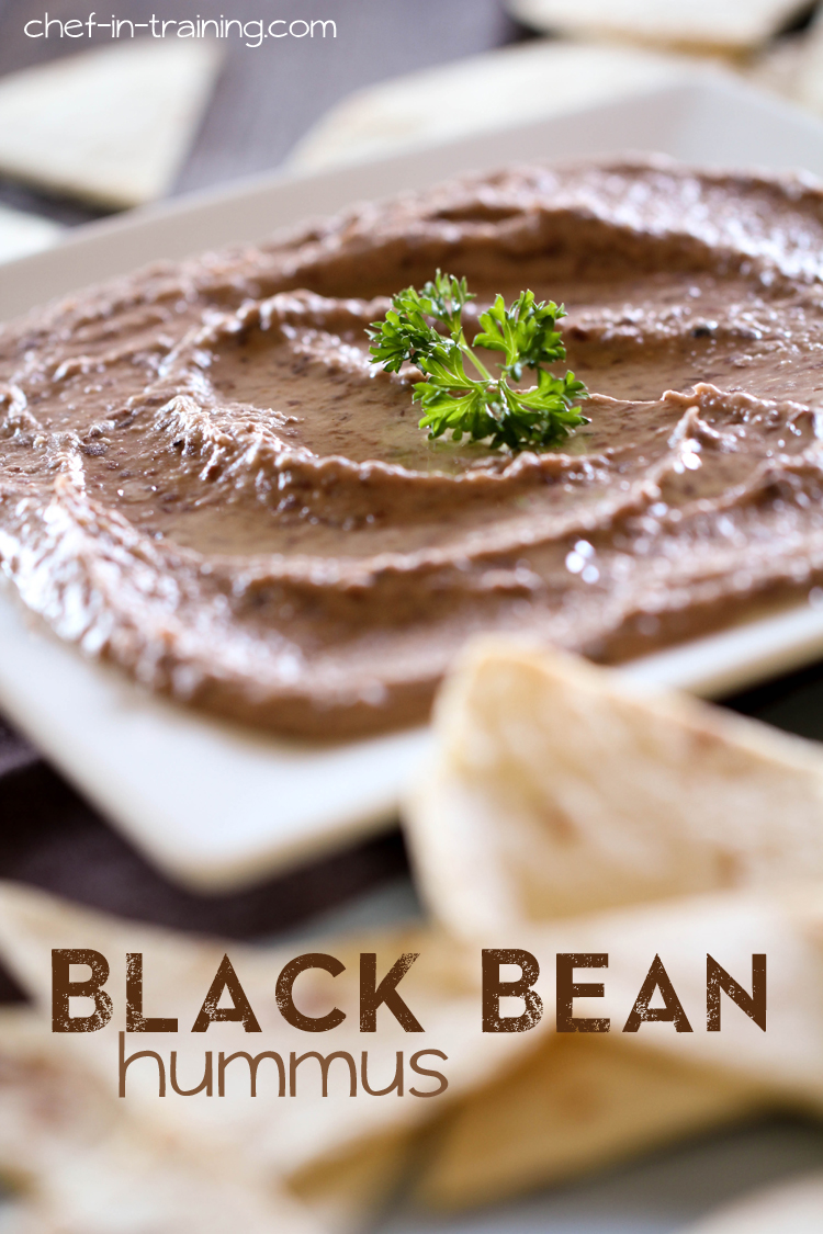 Black Bean Hummus from chef-in-training.com ...This could possible be the best hummus recipe ever! It is SO good and jam-packed with flavor!