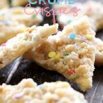 Cake Batter Crumb Crispies from chef-in-training.com ...These delicious bites whip up in minutes! Definitely a new family favorite!