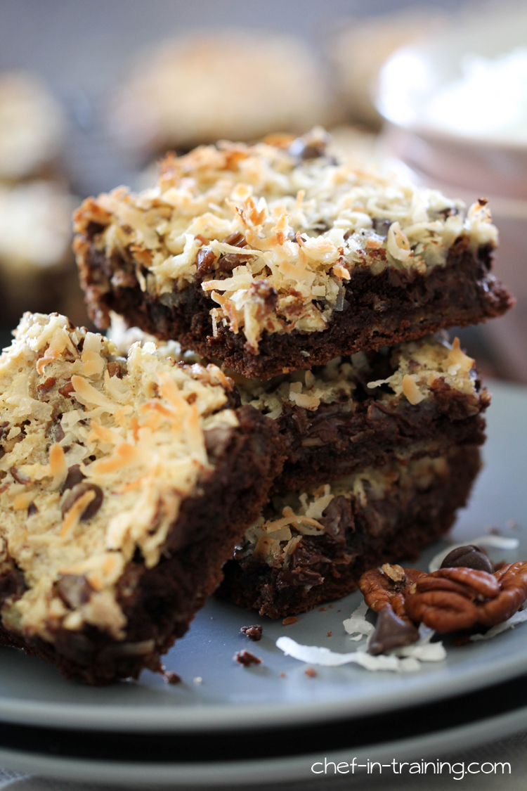 Chocolate Coconut Bars from chef-in-training.com ...Coconut, sweetened ...