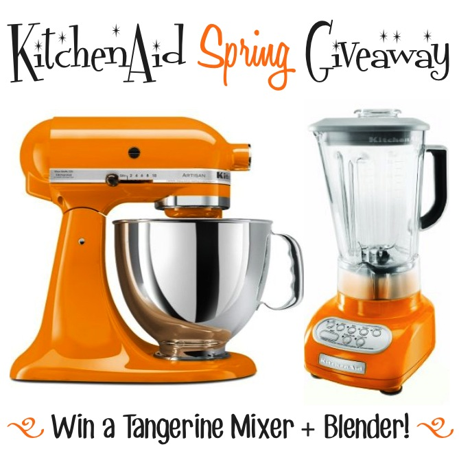 Kitchen Aid Tangerine Mixer And Blender Giveaway! - Chef In Training