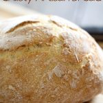 No-Knead Crusty Artisan Bread on chef-in-training.com ...This bread is incredible and is fool-proof! As easy as it gets when it comes to bread making!